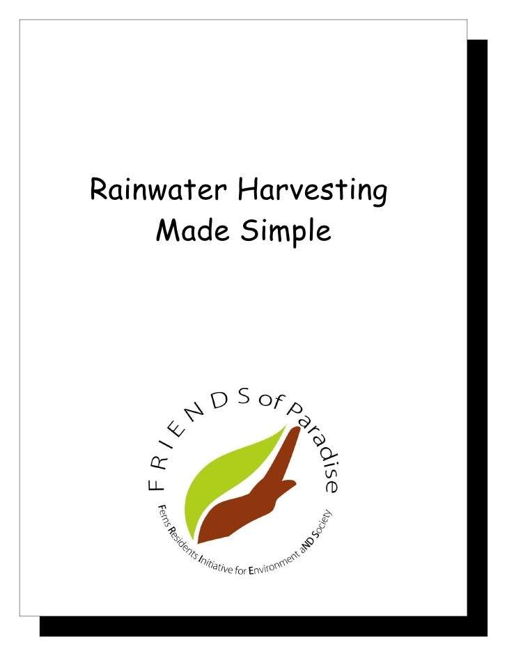Rainwater Harvesting    Made Simple
