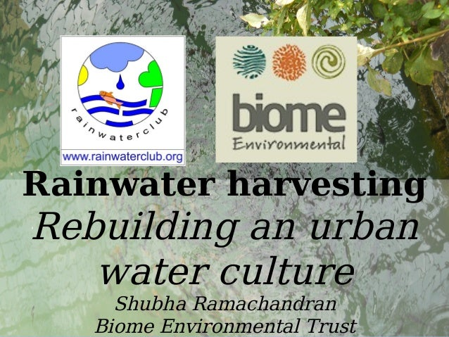 Rainwater harvesting tirupur - Version 1