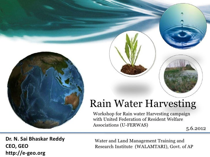 Rain Water Harvesting                           Workshop for Rain water Harvesting campaign                           with...
