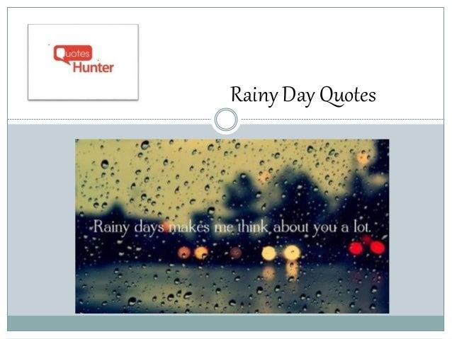 Rainy day essay