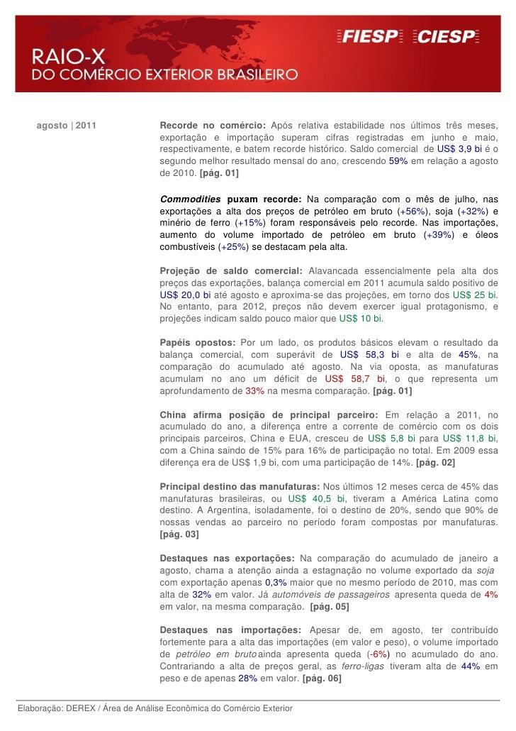agosto | 2011                 Recorde no comércio: Após relativa estabilidade nos últimos três meses,                     ...
