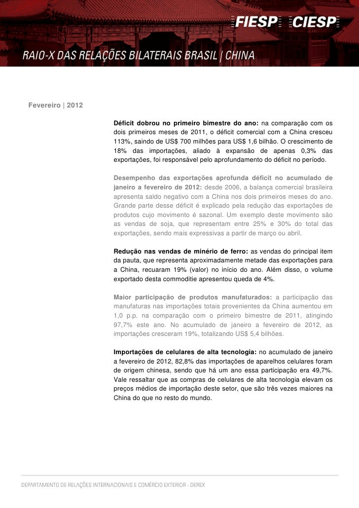 Fevereiro | 2012                   Déficit dobrou no primeiro bimestre do ano: na comparação com os                   dois...
