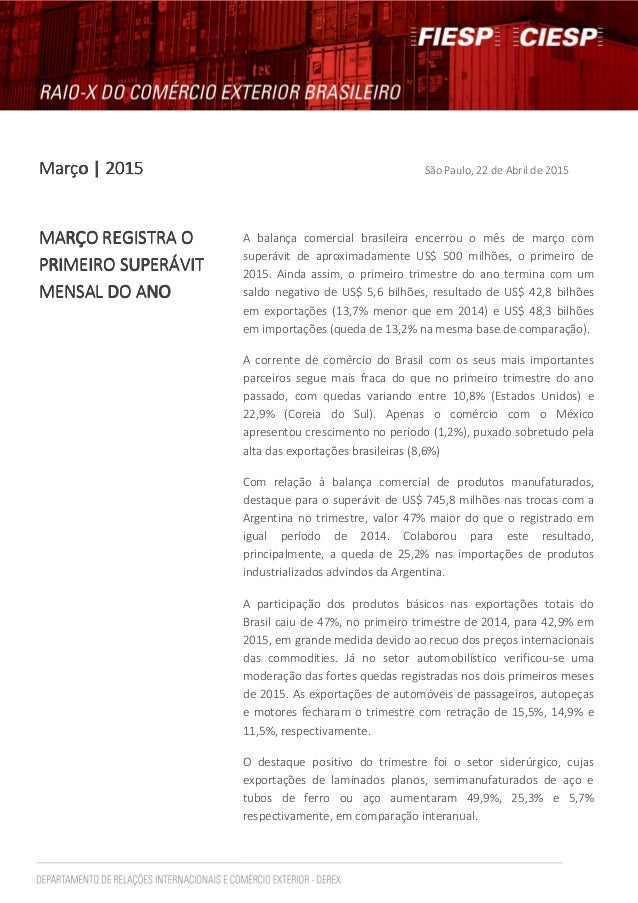 Março | 2015Março | 2015Março | 2015Março | 2015 São Paulo, 22 de Abril de 2015 MARÇO REGISTRA OMARÇO REGISTRA OMARÇO REGI...