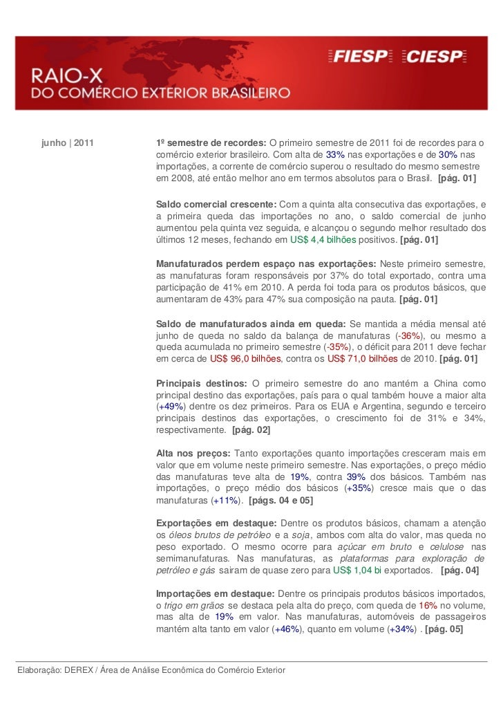 junho | 2011                 1º semestre de recordes: O primeiro semestre de 2011 foi de recordes para o                  ...
