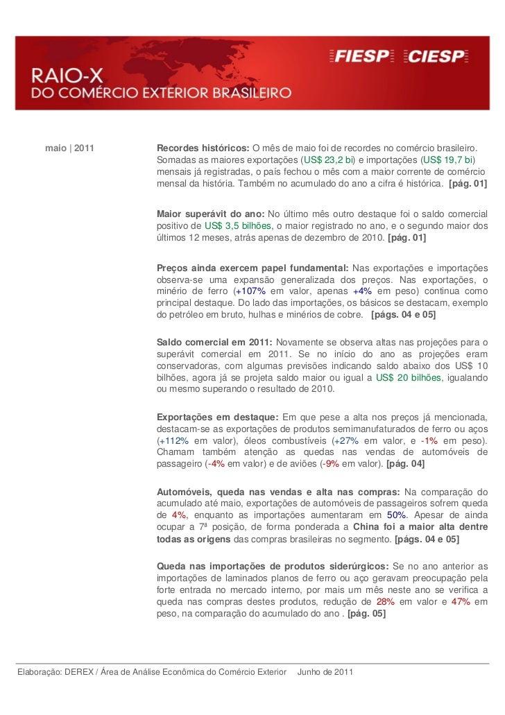 maio | 2011                 Recordes históricos: O mês de maio foi de recordes no comércio brasileiro.                    ...