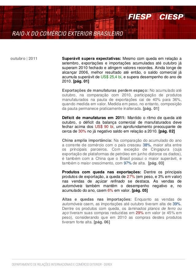 Superávit supera expectativas: Mesmo com queda em relação a setembro, exportações e importações acumuladas até outubro já ...