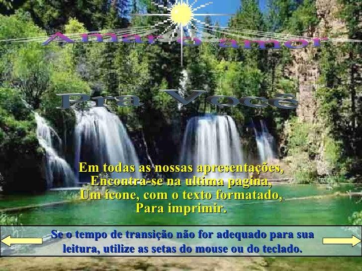 Raio de LuZ Apresenta Pra Você Amar o amor Ligue  o  Som Cruze  os  Braços Se o tempo de transição não for adequado para s...