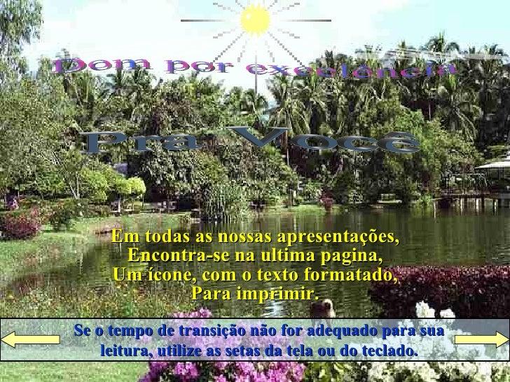 Raio de LuZ Apresenta Pra Você Dom por excelência Ligue  o  Som Cruze  os  Braços Se o tempo de transição não for adequado...