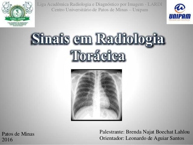 Liga Acadêmica Radiologia e Diagnóstico por Imagem - LARDI Centro Universitário de Patos de Minas – Unipam Palestrante: Br...