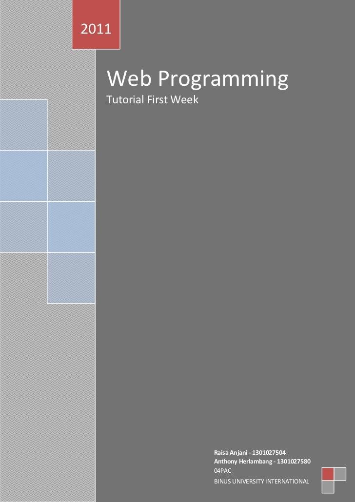 Raisa anthony   web programming 1st week