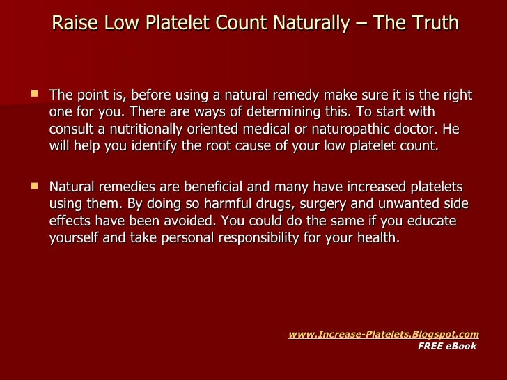 Natural Remedies For Low Platelet Count