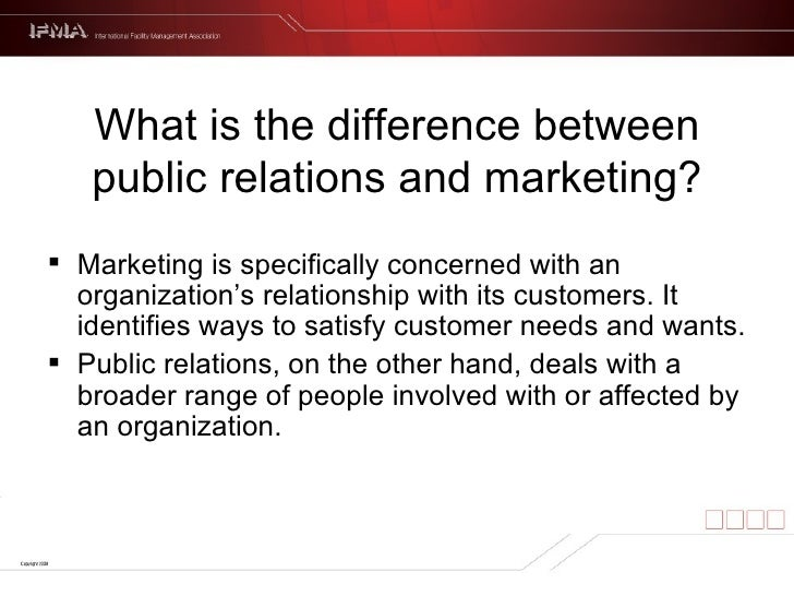 public relations differences from the other Because advertising and public relations are often incorrectly assumed to be  interchangeable with one another, misinformed companies miss.
