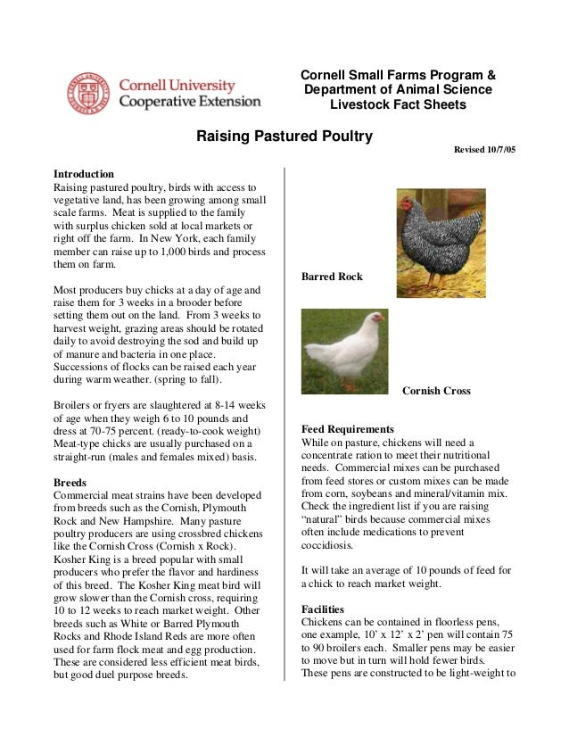 Cornell Small Farms Program &                                                   Department of Animal Science              ...