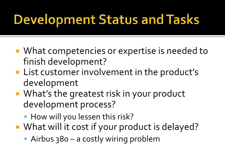 product design and development plan template