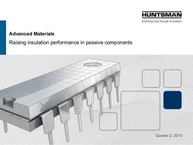Advanced Materials Raising insulation performance in passive components Quarter 2, 2013