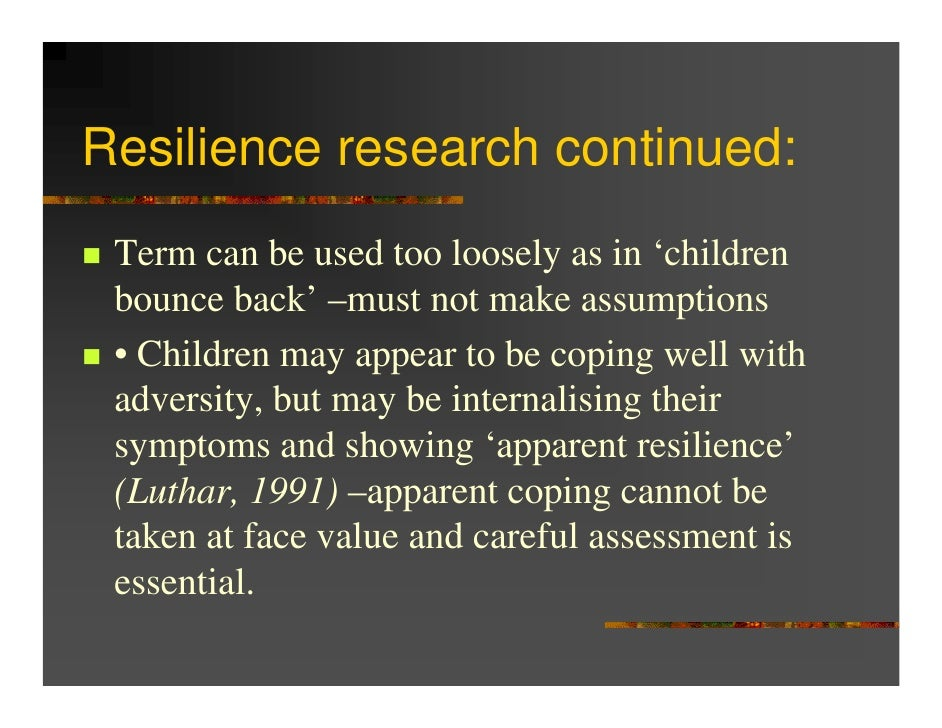 study on childhood adversities and resilience Greater number of childhood adversities was  the adverse childhood experiences (ace) study followed over  prevent childhood adversities and build resilience.