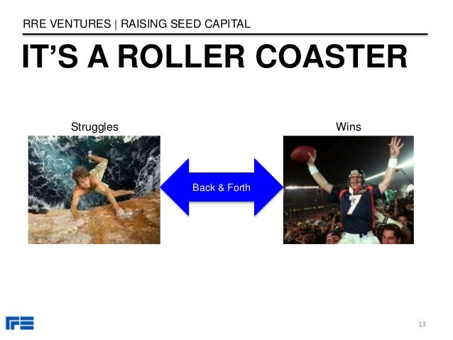 IT'S A ROLLER COASTER RRE VENTURES   RAISING SEED CAPITAL 13 Back & Forth Struggles Wins