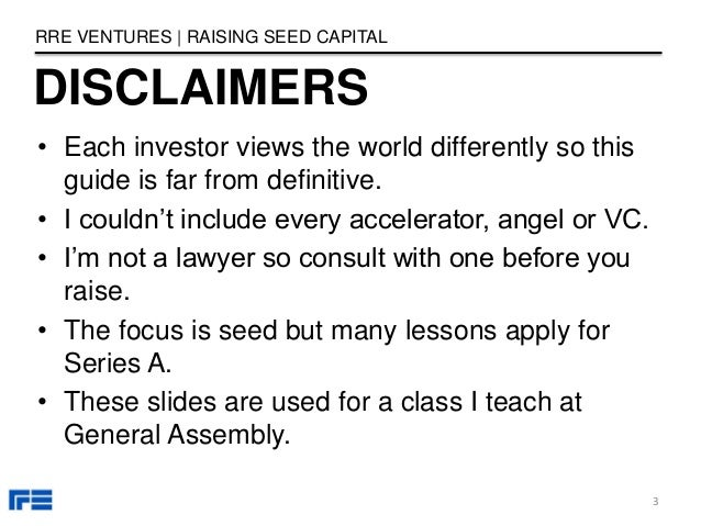 • Each investor views the world differently so this guide is far from definitive. • I couldn't include every accelerator, ...