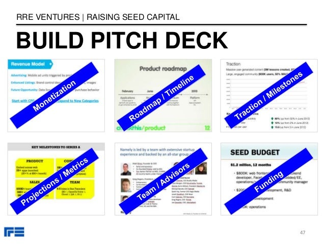 BUILD PITCH DECK RRE VENTURES   RAISING SEED CAPITAL 47
