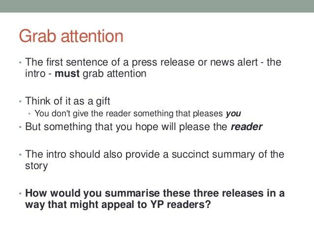 attention grabbing sentences