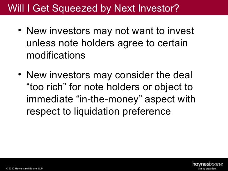 preference share and convertible note essay Advantages and disadvantages of convertible equity, convertible note, and preferred stock.