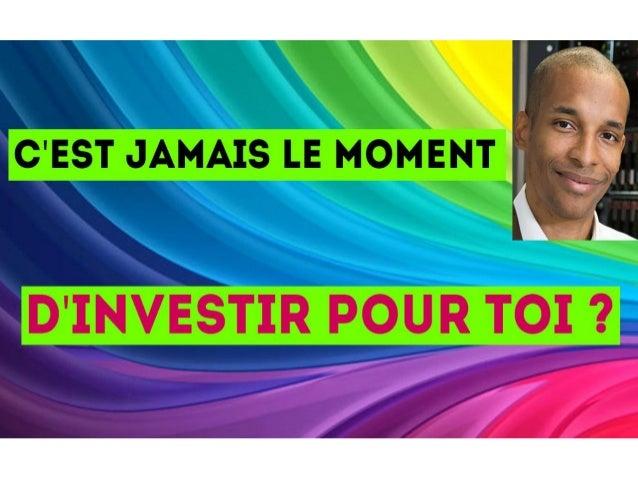 As-tu une bonne raison pour ne pas investir ? www.mycatisrich.fr BIENVENUE !!!