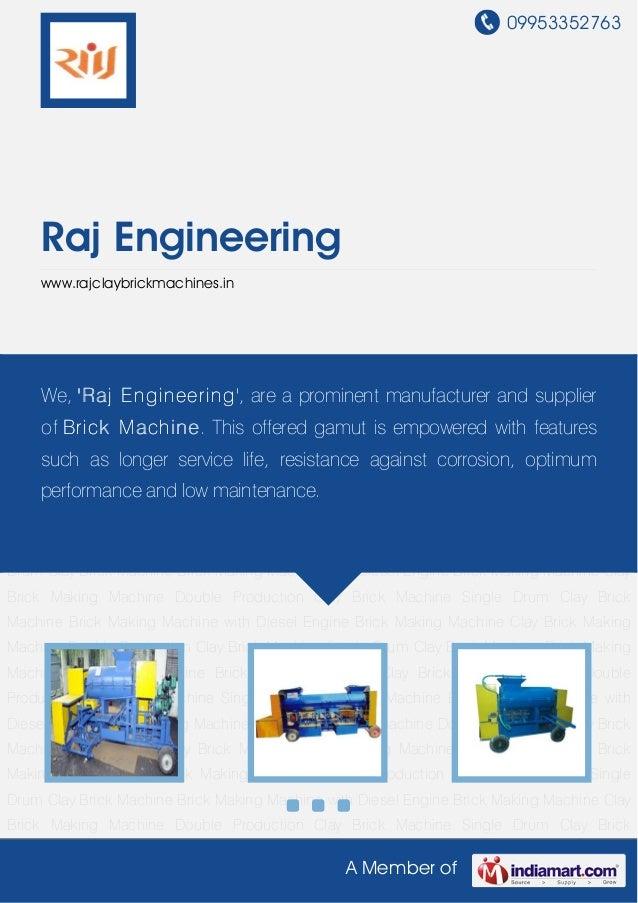 09953352763A Member ofRaj Engineeringwww.rajclaybrickmachines.inClay Brick Making Machine Double Production Clay Brick Mac...