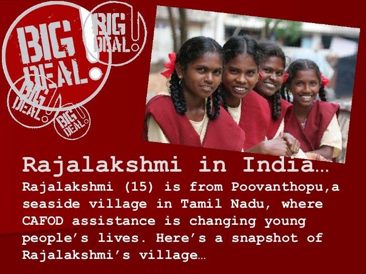 Rajalakshmi in India…  Rajalakshmi (15) is from Poovanthopu,a seaside village in Tamil Nadu ,  where CAFOD assistance is c...