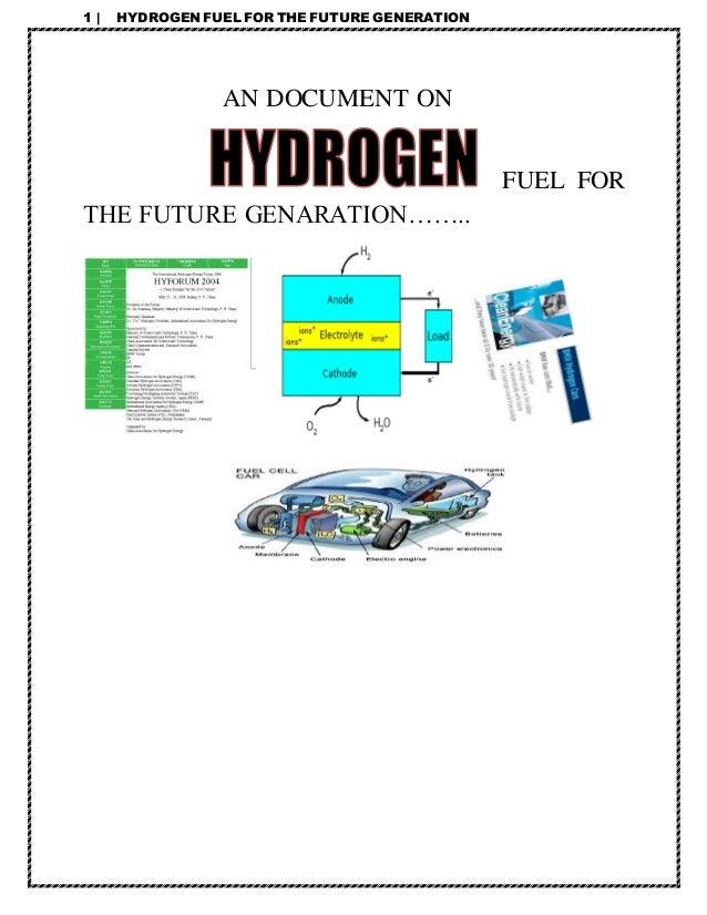 essay on hydrogen as a future fuel