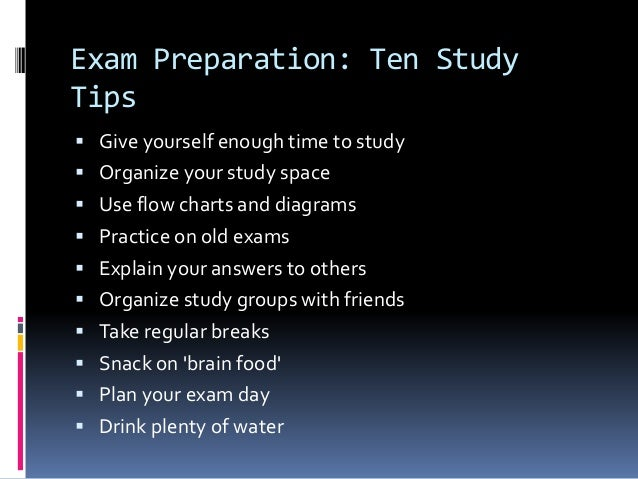 how to study smart for final exam