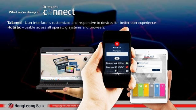Tailored - User interface is customized and responsive to devices for better user experience.  Holistic – usable across al...
