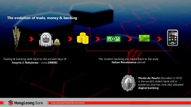 The evolution of trade, money & banking  The modern banking era traced back to the early  Italian Renaissance period  Mont...