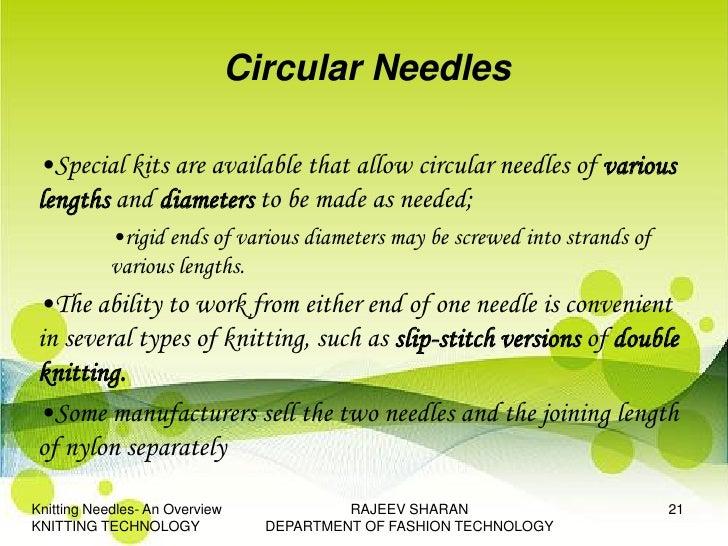 Knitting Circular Needles Without Joining : Rajeev kt ppt