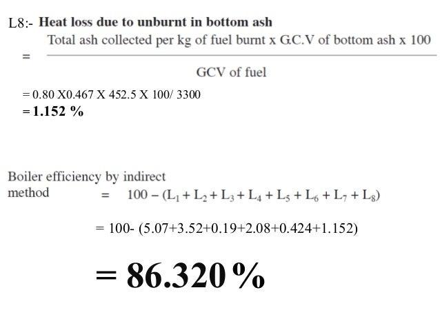 Boiler efficiency by loss Method