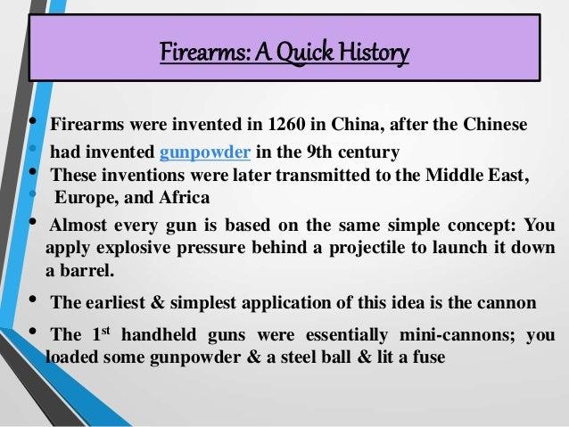 History of firearms Slide 3