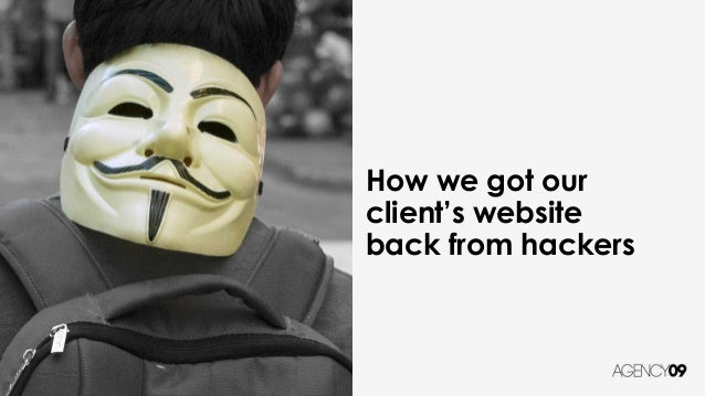 How we got our client's website back from hackers
