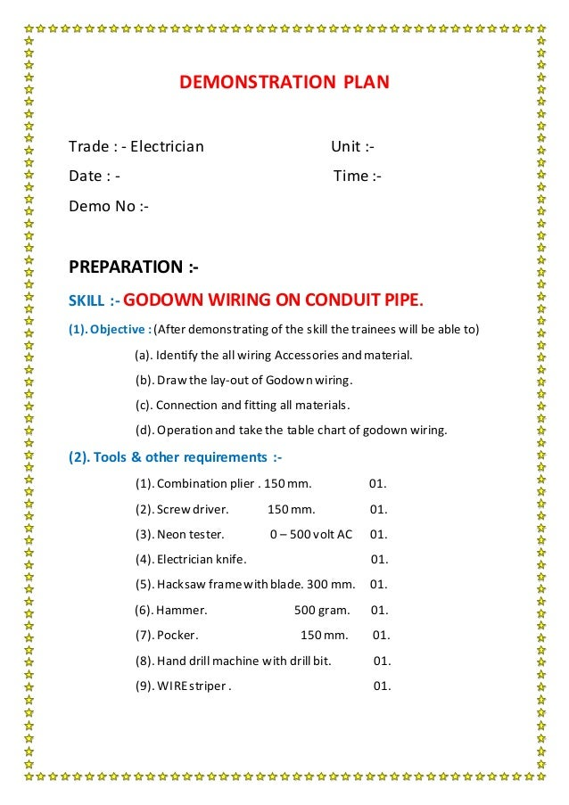 Application Of Godown Wiring