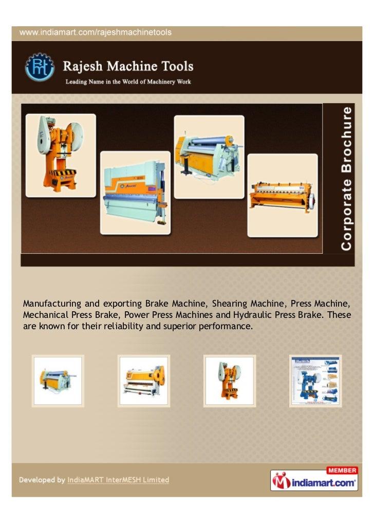 Manufacturing and exporting Brake Machine, Shearing Machine, Press Machine,Mechanical Press Brake, Power Press Machines an...