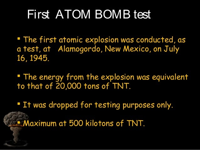 United States conducts first test of the atomic bomb