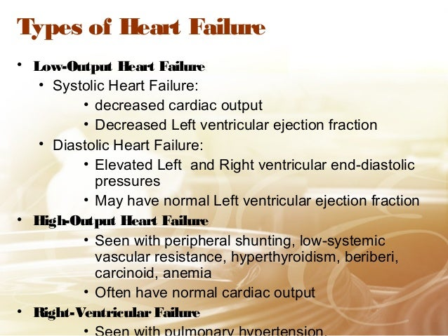 an overview of the causes types symptoms and treatment of congestive heart failure chf Follow a low-sodium diet to reduce the symptoms of congestive heart failure what causes congestive heart failure chf_overview/page2htm.