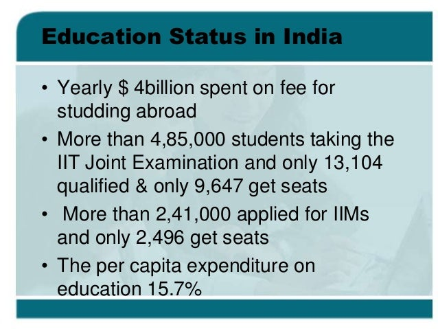 education is only business in india