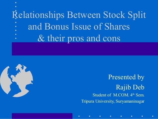 Tag: stock split vs bonus issue