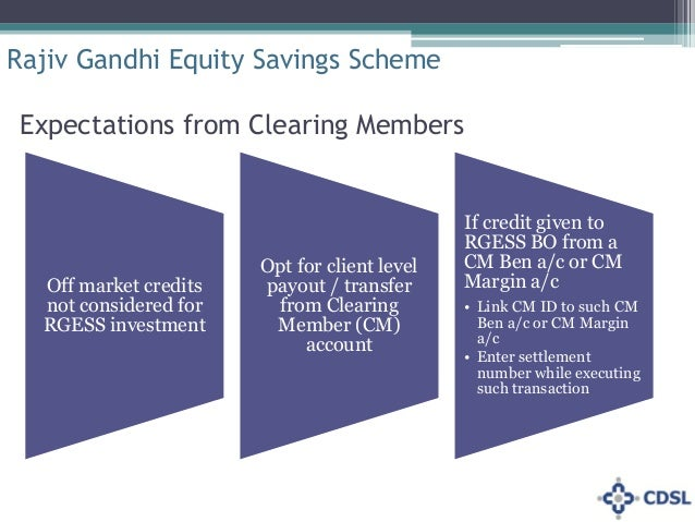 rajeev gandhi equity saving scheme The new tax saving scheme called rajiv gandhi equity saving scheme (rgess), exclusively for the first time retail investors in securities market this scheme.