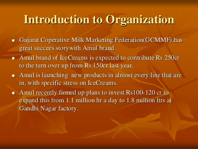 compitative analysis of amul icecream View shitij agrawaal's profile on linkedin,  -to make competition analysis & develop strategy for amul icecream launch in indore & bhopal   competitive.