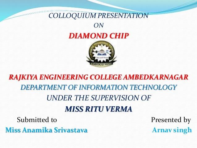 Diamond Chip Seminar PPT with PDF Report