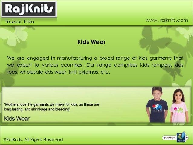 Kids Wear Exporters in India Slide 2