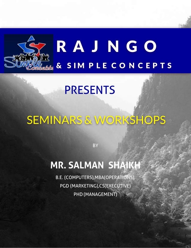 Raj ngo brochure seminars update