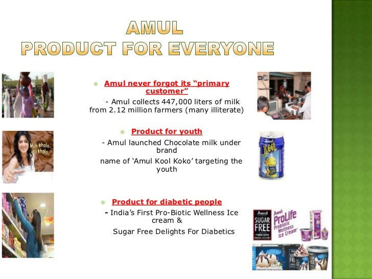 amul a case study Case study: amul ­ the taste of india about amul amul was set up in 1946 and its full form is anand milk- producers union ltd the brand amul is a movement in dairy cooperative in india the management of the brand name is done by the gujarat co- operative milk marketing federation ltd (gcmmf) which is a cooperative organization amul is.