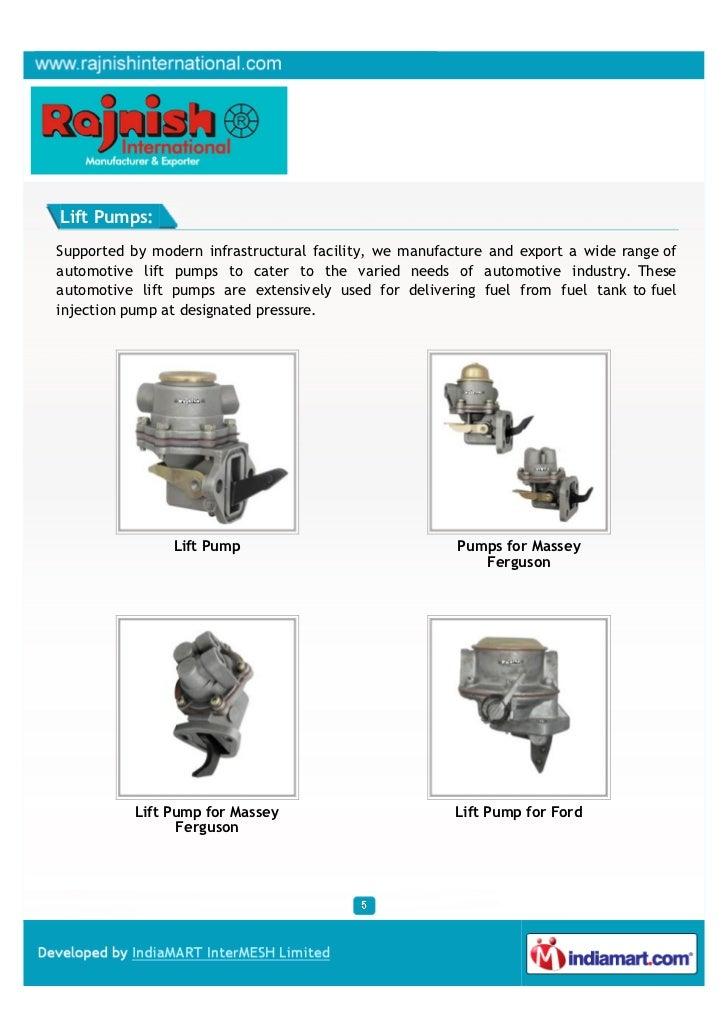 Rajnish International, Ludhiana, Diesel Fuel Injection Spares,