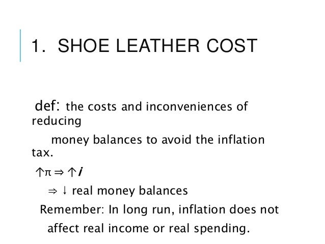 Shoe Leather Costs Of Inflation